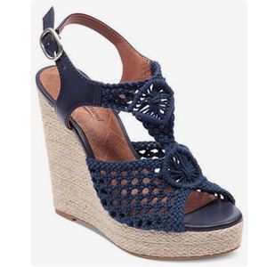 005965eb836 Lucky Brand Shoes - Lucky Brand Rilo Wedge Espadrille Sandals  Blue